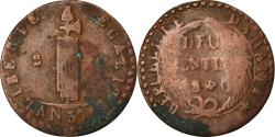 World Coins - Coin, Haiti, 2 Centimes, 1840, backward 4, , Copper, KM:A22