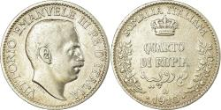 World Coins - Coin, ITALIAN SOMALILAND, Vittorio Emanuele III, 1/4 Rupia, 1910, Rome