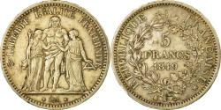 World Coins - Coin, France, Hercule, 5 Francs, 1849, Bordeaux, , Silver, KM:756.4
