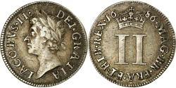 World Coins - Coin, Great Britain, James II, 2 Pence, 1/2 Groat, 1686, , Silver
