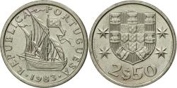World Coins - Coin, Portugal, 2-1/2 Escudos, 1983, , Copper-nickel, KM:590