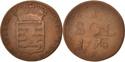 World Coins - Luxembourg, Leopold II, Sol, 1790, G, , Copper, KM:15