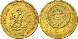 World Coins - Coin, Mexico, 20 Pesos, 1919, Mexico City, , Gold, KM:478