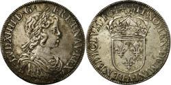 World Coins - Coin, France, Louis XIV, 1/2 Écu à la mèche courte, 1/2 Ecu, 1644, Paris