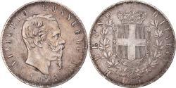 World Coins - Coin, Italy, Vittorio Emanuele II, 5 Lire, 1878, Rome, , Silver, KM:8.4