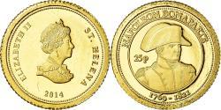 World Coins - Coin, Saint Helena, 25 Pence, 2014, British Royal Mint, Napoléon Bonaparte