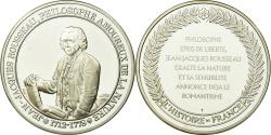 World Coins - France, Medal, Jean-Jacques Rousseau, History, , Silver