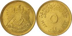 World Coins - Egypt, 5 Milliemes, 1973, , Brass, KM:432