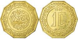World Coins - Coin, Algeria, 10 Dinars, 1981, MS(65-70), Aluminum-Bronze, KM:E7