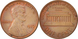 Us Coins - United States, Lincoln Cent, Cent, 1975, U.S. Mint, Philadelphia,