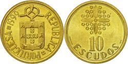 World Coins - Coin, Portugal, 10 Escudos, 1999, , Nickel-brass, KM:633