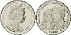 World Coins - Coin, Falkland Islands, Elizabeth II, Crown, 2011, Pobjoy Mint,