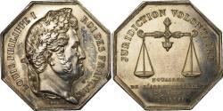World Coins - France, Token, Louis Philippe Ier, Notaires de l'Arrondissement de Gien, Caqué