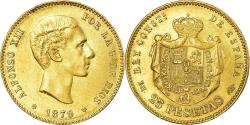 World Coins - Coin, Spain, Alfonso XII, 25 Pesetas, 1879, Madrid, , Gold, KM:673
