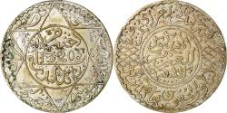 World Coins - Coin, Morocco, 'Abd al-Aziz, 1/2 Rial, 5 Dirhams, 1902, London,