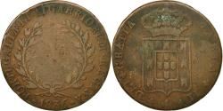 World Coins - Coin, Portugal, Maria II, 10 Reis, X; 1/2 Vinten, 1836, , Copper, KM:406