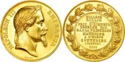 World Coins - France, Medal, Napoléon III, Prix offert par la Princesse Mathilde, 1866, Gold