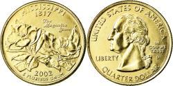 Us Coins - Coin, United States, Mississippi, Quarter, 2002, U.S. Mint, Denver, golden