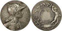World Coins - France, Medal, École des Beaux-Arts de Rouen, Rives, AU(55-58), Silver