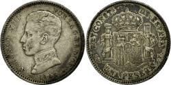 World Coins - Coin, Spain, Alfonso XIII, Peseta, 1903, Valencia, EF(40-45), Silver, KM:721