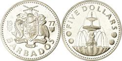 World Coins - Coin, Barbados, 5 Dollars, 1977, Franklin Mint, Proof, , Silver, KM:16a