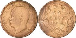 World Coins - Coin, Portugal, Luiz I, 20 Reis, 1886, , Bronze, KM:527