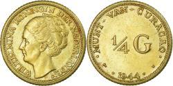 World Coins - Coin, Curacao, 1/4 Gulden, 1944, Denver, USA, , Silver, KM:44