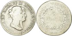 World Coins - Coin, ITALIAN STATES, LUCCA, Felix and Elisa, 5 Franchi, 1807, Firenze
