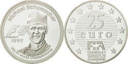 World Coins - France, 25 Euro, Michael Schumacher, 1997, , Silver