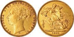 World Coins - Coin, Australia, Victoria, Sovereign, 1881, Melbourne, , Gold, KM:7
