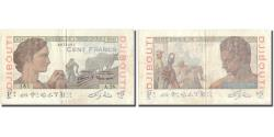 World Coins - Banknote, French Somaliland, 100 Francs, Undated (1946), KM:19a, EF(40-45)