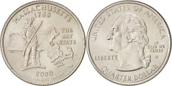 Us Coins - United States, State Quarter, 2000, Denver, Massachusetts, KM:305