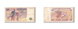 World Coins - Tunisia, 20 Dinars, 1992, 1992-11-07, KM:88, VG(8-10)