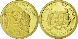 World Coins - Coin, Benin, Charles de Gaulle, 1500 Francs CFA, 2010, , Gold