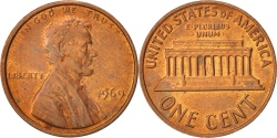 Us Coins - United States, Lincoln Cent, Cent, 1969, U.S. Mint, Philadelphia,