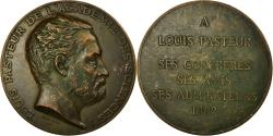 World Coins - France, Medal, Louis Pasteur, Académie des Sciences, 1882, Dubois.A,