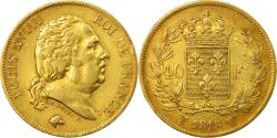 Ancient Coins - Coin, France, Louis XVIII, 40 Francs, 1818, Lille, , Gold, KM 713.6