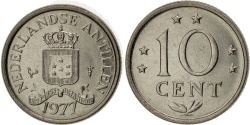 World Coins - Netherlands Antilles, Juliana, 10 Cents, 1977, , Nickel, KM:10