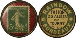 World Coins - Coin, France, Rainbow, Tailor, Bordeaux, 5 Centimes, Timbre-Monnaie,