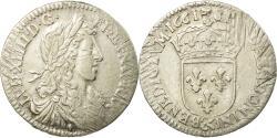 Ancient Coins - Coin, France, Louis XIV, 1/12 Écu au buste juvénile, 1/12 ECU, 10 Sols, 1661