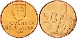 World Coins - SLOVAKIA, 50 Halierov, 2004, KM #35, , Copper Plated Steel, 18.75, 2.78