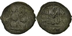 Ancient Coins - Coin, Justin II, Follis, Year 13, Constantinople, , Copper, Sear:360