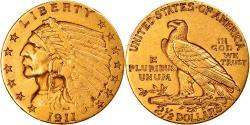 Us Coins - Coin, United States, Indian Head, $2.50, Quarter Eagle, 1911, U.S. Mint