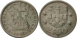 World Coins - Coin, Portugal, 2-1/2 Escudos, 1965, , Copper-nickel, KM:590