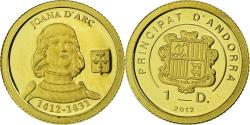Ancient Coins - Coin, Andorra, Jeanne d'Arc, Diner, 2012, Proof, , Gold, KM:410