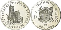 World Coins - France, Token, 30 Euro, Bourges, 1996, , Silver