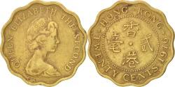 World Coins - HONG KONG, 20 Cents, 1976, KM #36, , Nickel-Brass, 19, 2.59