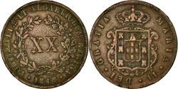 World Coins - Coin, Portugal, Maria II, 20 Reis, 1848, , Copper, KM:482