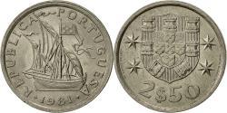 World Coins - Portugal, 2-1/2 Escudos, 1981, , Copper-nickel, KM:590