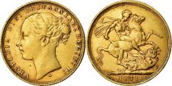 World Coins - Coin, Australia, Victoria, Sovereign, 1871, Sydney, , Gold, KM:7
